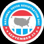 National Voter Registration Day logo September 25, 2018