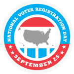 National Voter Registration Day logo September 25, 2018
